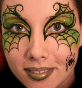 Spider Makeup Halloween 2012 Ideas Pinterest - Witch Face Paint And Makeup Ideas ...