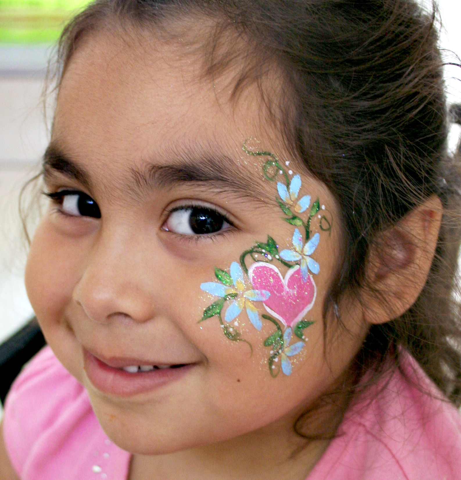 picture of face painting rainbow butterfly